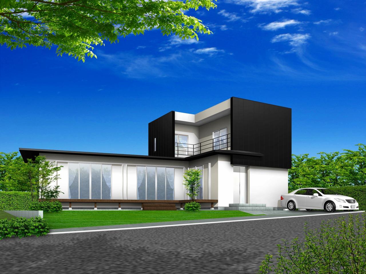 新築デザイン住宅完成