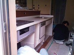 システムキッチン工事-1