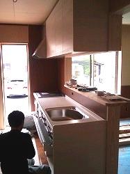 システムキッチン工事-2